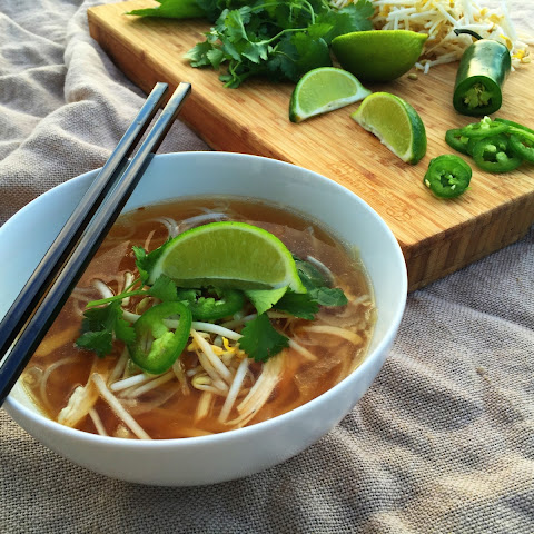 30 Minute Chicken Pho (Noodle Soup)