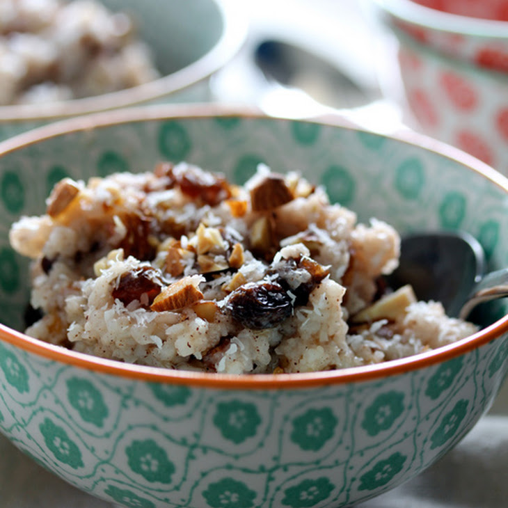 Slow-Cooker Coconut & Almond Rice Pudding Recipe | Yummly