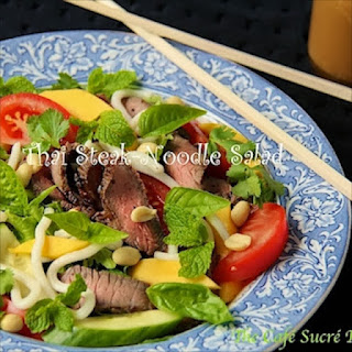 Thai Steak & Noodle Salad w/ Ginger-Sesame Dressing
