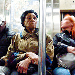 NYC Subway Riders by Marcia Geier - People Street & Candids ( subway, street, candid, nyc, people, New York,  )