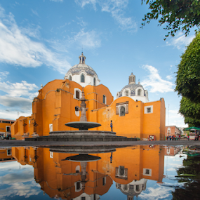 Tlaxcala Church by Cristobal Garciaferro Rubio - Buildings & Architecture Public & Historical ( reflection, church, mexico, reflections )