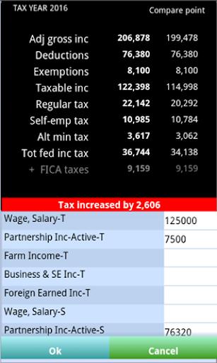 TaxMode: income tax calculator - screenshot