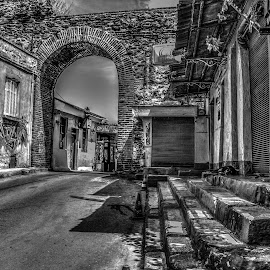 Historical place  by Gloria Melman - Buildings & Architecture Public & Historical ( black and white, street, greece, bnw, street photography )