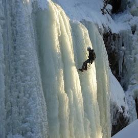 Ice Climbing by Ann Bøhn - Sports & Fitness Climbing ( climbing, winter, ice, sports, norway )