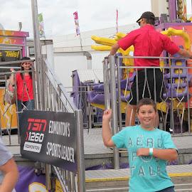 What a RIDE!!! by Joleen Larsen - City,  Street & Park  Amusement Parks ( wow!, amusement park, crazy, robbie, fast, KidsOfSummer )