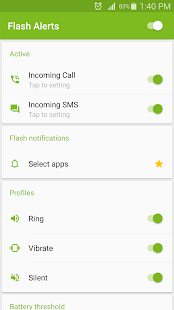 Alertas de Flash Screenshot