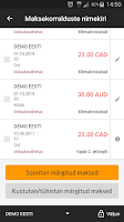 Screenshot of Swedbank Eestis