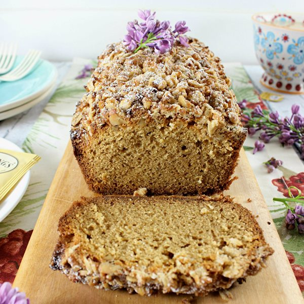 White Chocolate Lavender & Earl Grey Pound Cake with Coconut Walnut ...