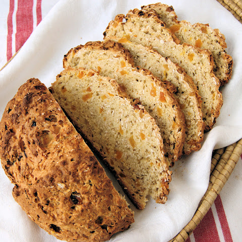 Oatmeal Soda Bread with Apricots