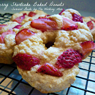 Baked Strawberry Shortcake Donuts