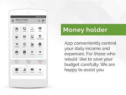 Money Holder - Money Manager screenshot for Android