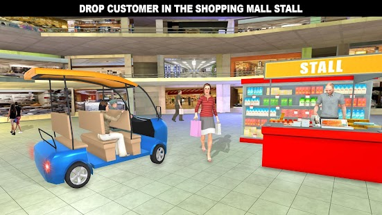 Shopping Mall Rush Taxi: City Driver Simulator