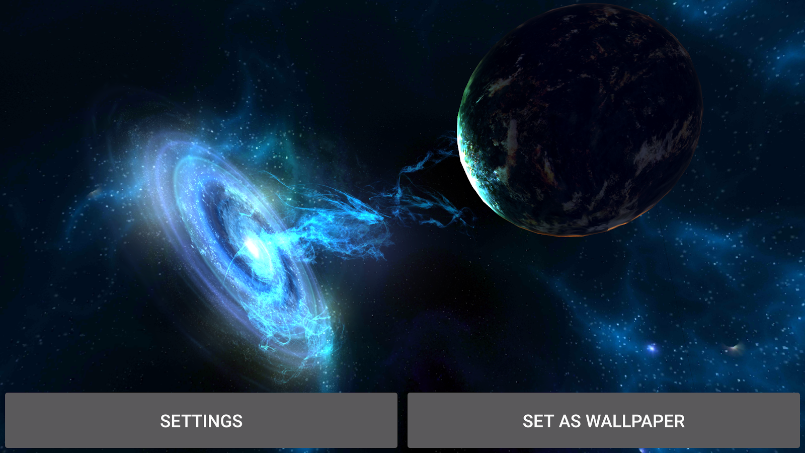 3D Galaxies Exploration LWP Screenshot 11