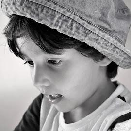Little one by Cristina Nunes - Black & White Portraits & People