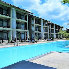 Hotel & pool by Svetlana Saenkova - Buildings & Architecture Office Buildings & Hotels ( blue water, sri lanka, swimming pool, pool,  )