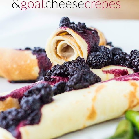 Savory Black Raspberry Goat Cheese Crêpes