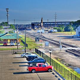 -----------Rail Yards--------- by Neal Hatcher - Transportation Railway Tracks