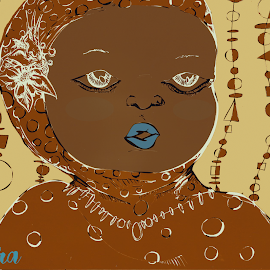 by Tamara Violeta - Illustration People ( african, digital art, illustration, africa, drawing )