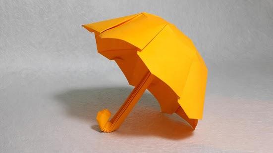 Как сделать зонтик оригами из бумаги