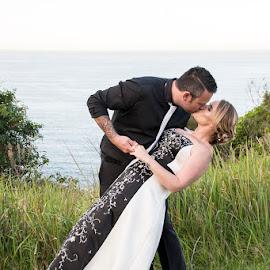 Dipped by Mel Stratton - Wedding Bride & Groom ( love, married, happy, wed, bride, groom )