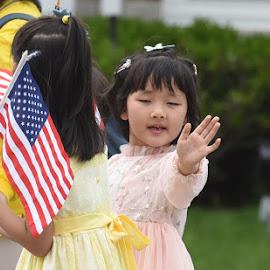 Saying Hello!  by Lorraine D.  Heaney - Babies & Children Children Candids
