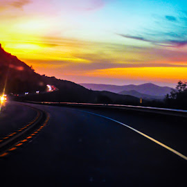 Dope! by Brendan Mcmenamy - Novices Only Landscapes ( dope, windy, colors, sunset, road )