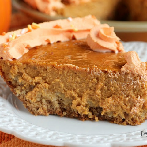 Pumpkin Pie with Brown Sugar Oatmeal Cookie Crust