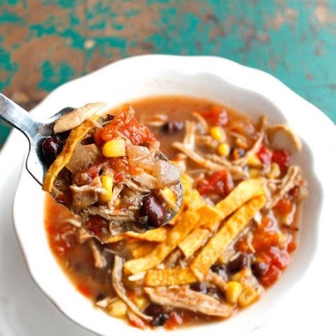 Crockpot Turkey and Quinoa Tortilla Soup