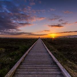 sunset by Paul Gaffey - Landscapes Sunsets & Sunrises ( sunset )