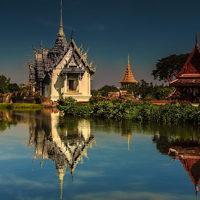 Sanphet Prasat Palace by Oguz Sevim - Buildings & Architecture Public & Historical ( bangkok, sanphet prasat, mimature, palace, sanphet prasat palace )