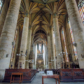 Church of St. Bartolomeo, Pils by Jiri Cetkovsky - Buildings & Architecture Public & Historical ( interior, st. bartolomeo, church, plzeň, monument, plzen, historic, pils )