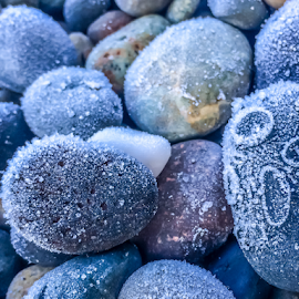 by Keith Sutherland - Nature Up Close Rock & Stone ( cold, frost, beach )