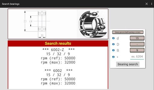 Search bearings (Pro version) - screenshot