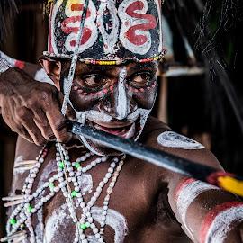 Asmat Tribe 6 by Eko Probo D Warpani - People Portraits of Men ( sony, canon, asmat tribe, nature, photographer, winner, asmat, papua, nikon, photography, heritage )