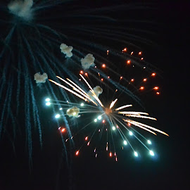Fourth of July Fireworks by Kristin Cosgrove - Novices Only Street & Candid ( fourth of july, explosion, fireworks, night sky )