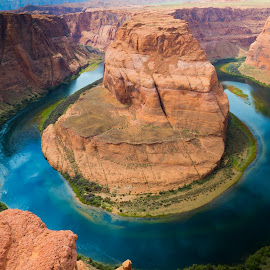 Horse Shoe Bend by Andrew Dawes - Landscapes Travel ( desert, page, travel, horseshoe bend, landscape, river )