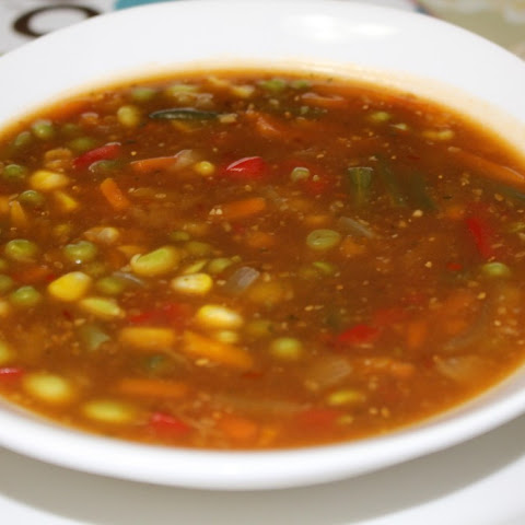 Chinese Chili Veg Soup