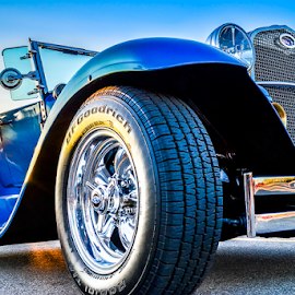 Classic Rubber by Udo Weber - Transportation Automobiles ( clean, blue, sundown, hot rod, ford, tire )