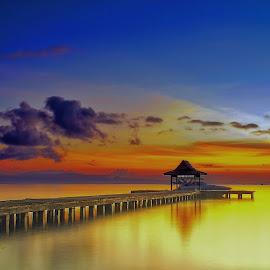 Sunrise At Dodoku Ali Harbour  by Ady Roses - Landscapes Sunsets & Sunrises ( ternate, sunrise, landscape )