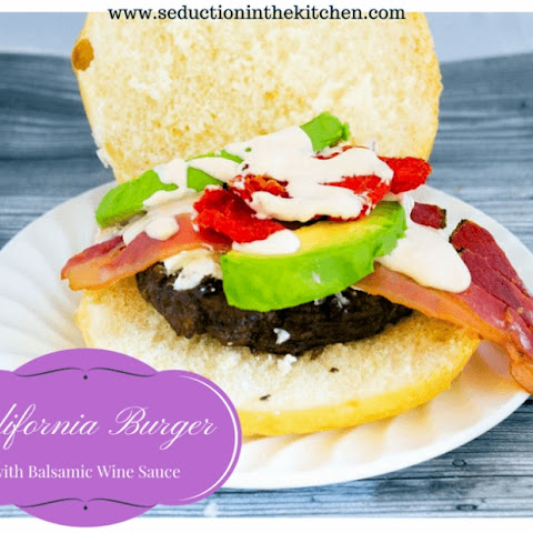 California Burger with Balsamic Wine Sauce