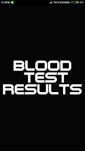 Blood Test Results screenshot for Android