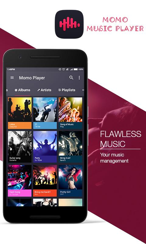 Momo Music Player Screenshot 0
