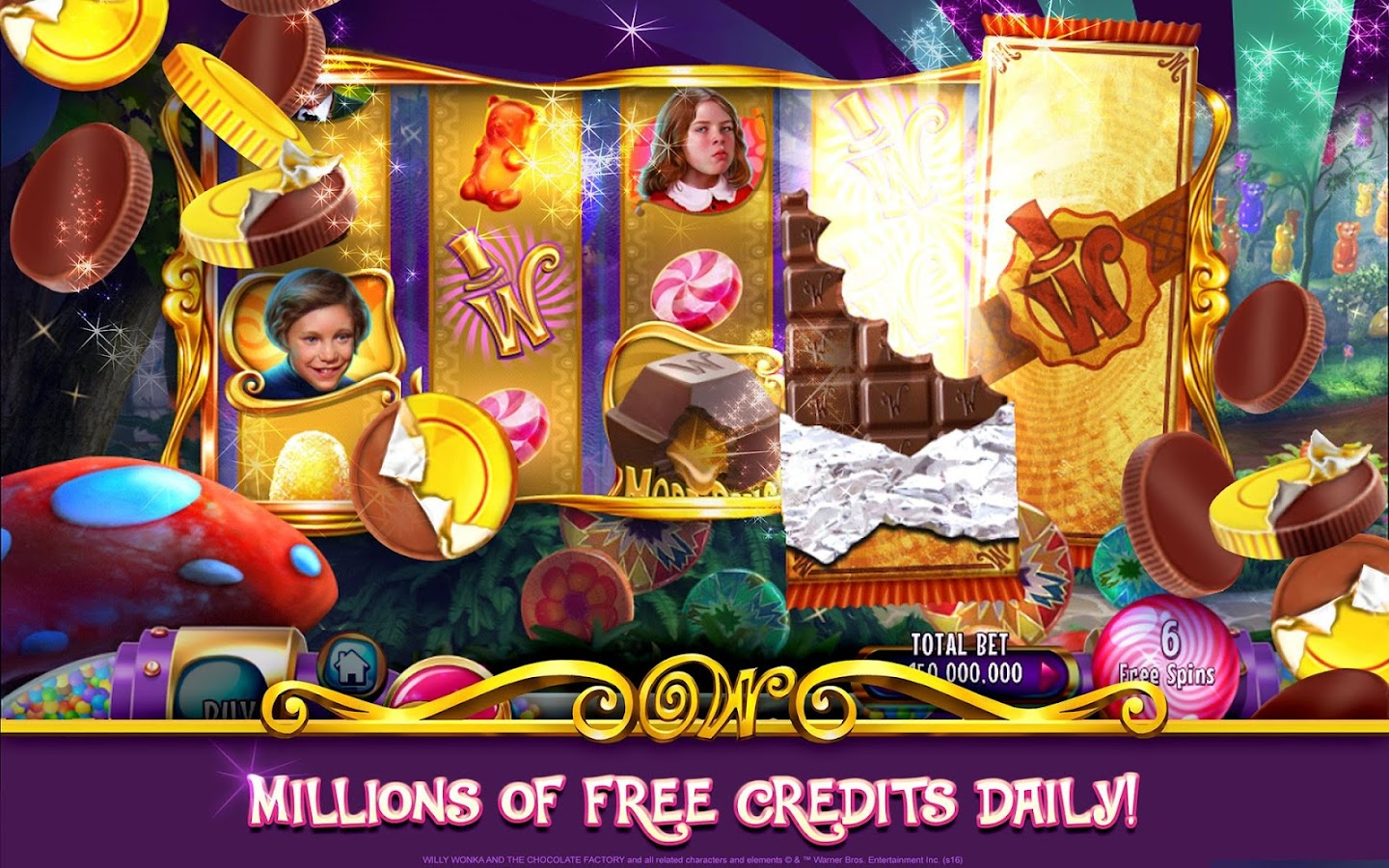 Willy Wonka Slots Free Casino Screenshot 12