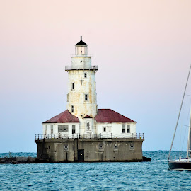 Navy Pier - Chicago by Jim Benson - Novices Only Landscapes ( landscape photography, sailboat, lighthouse, navy pier, chicago )