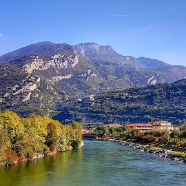 Sarca  river by Patrizia Emiliani - Landscapes Waterscapes ( sarca, italy, river )