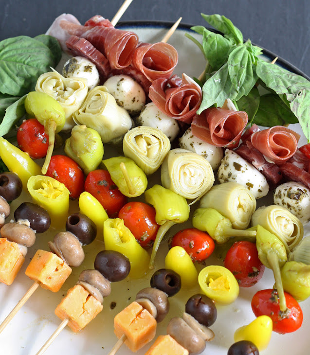 Antipasto Skewers #BringTheHeat #Mezzetta Recipe | Yummly