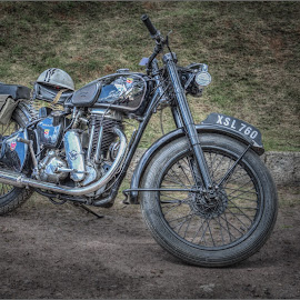 A motor bike from a bygone age by Steve Dormer - Transportation Motorcycles
