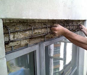 Concrete lintel repair