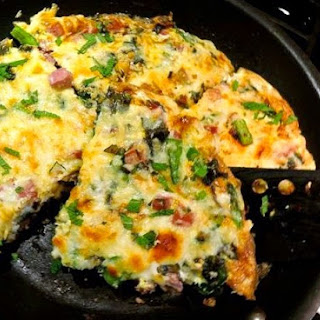 Ham and Spring Vegetable Frittata