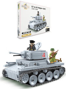 "Конструктор серии ""Brick Battle"", легкий танк LT vz.38 PzKpfw 38(t)"
